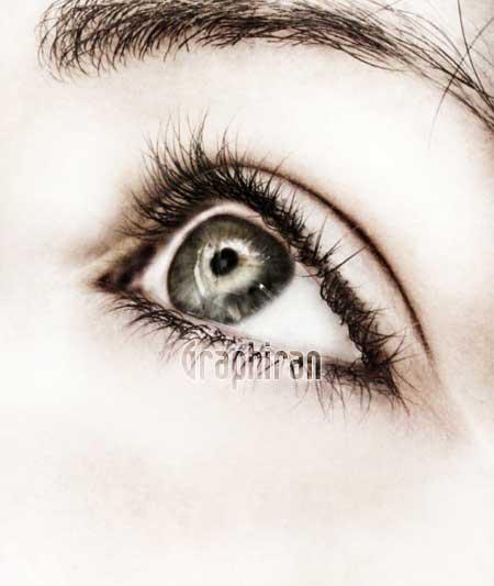 131 آموزش تصویری روتوش پوست صورت و آرایش چشم در فتوشاپ