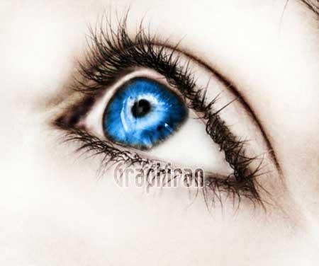 15 آموزش تصویری روتوش پوست صورت و آرایش چشم در فتوشاپ