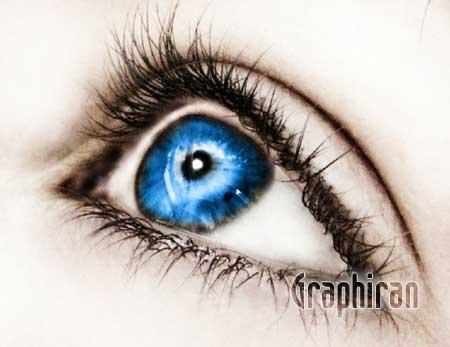 16 آموزش تصویری روتوش پوست صورت و آرایش چشم در فتوشاپ