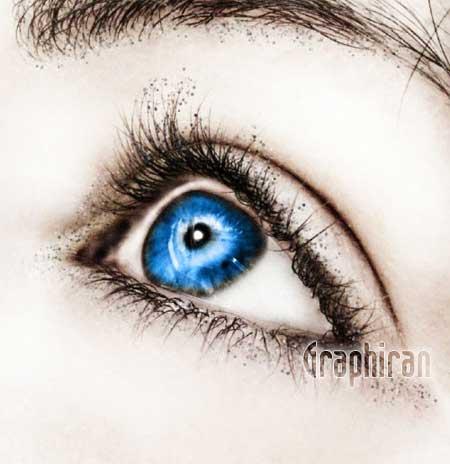 20 آموزش تصویری روتوش پوست صورت و آرایش چشم در فتوشاپ