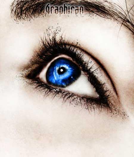 22 آموزش تصویری روتوش پوست صورت و آرایش چشم در فتوشاپ
