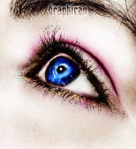 23 آموزش تصویری روتوش پوست صورت و آرایش چشم در فتوشاپ