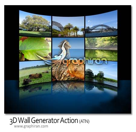 3d wall generator action