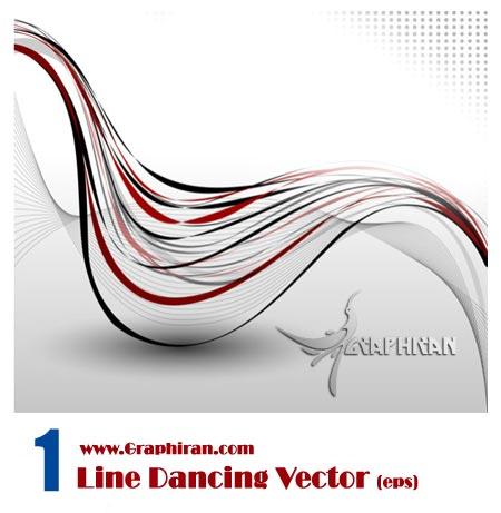 Line Dancing Vector دانلود وکتور خطوط رقصنده در فرمت EPS