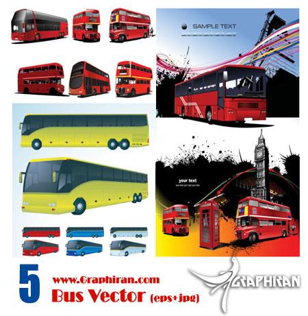 bus مجموعه وکتور وسایل نقلیه شماره ی یک   اتوبوس
