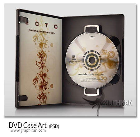 DVD CASE PSD
