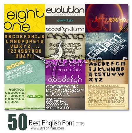 font دانلود 50 فونت زیبا برای طراحی لوگو