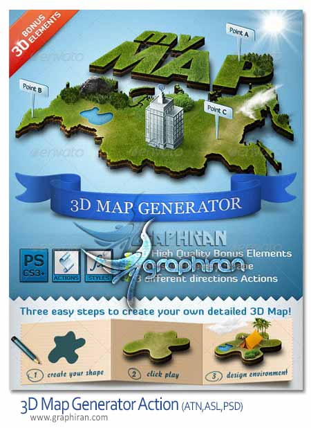 3d map generator action