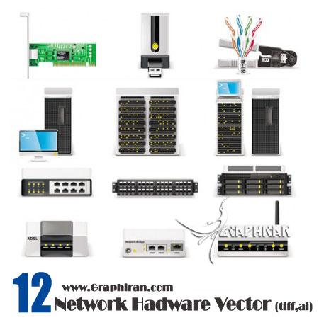وکتور تصویر ساخت افزار شبکه