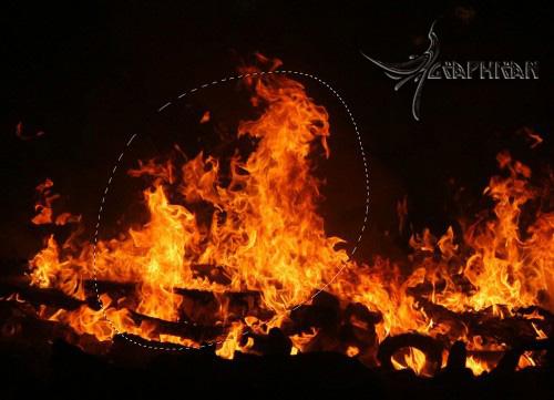 alexa20 طراحی صحنه ی سوررئال با افکت آتش در فتوشاپ
