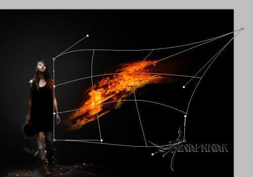 alexa22 طراحی صحنه ی سوررئال با افکت آتش در فتوشاپ