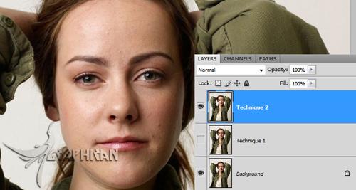 asli 5 آموزش روتوش حرفه ای چهره و پوست صورت در فتوشاپ