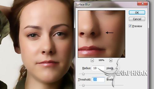 asli 6 آموزش روتوش حرفه ای چهره و پوست صورت در فتوشاپ