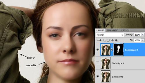 asli 8 آموزش روتوش حرفه ای چهره و پوست صورت در فتوشاپ