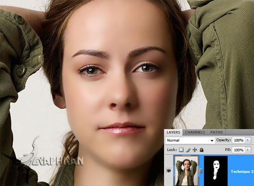 asli 9 آموزش روتوش حرفه ای چهره و پوست صورت در فتوشاپ