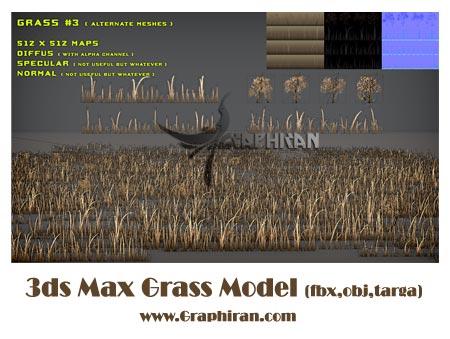 مدل 3بعدی چمن برای 3ds max