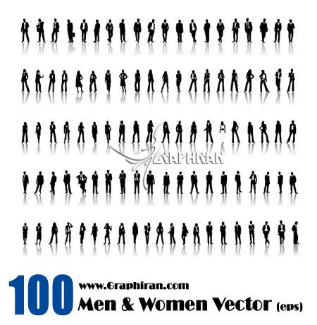 وکتور طرح زن و مرد