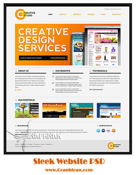 psd website template