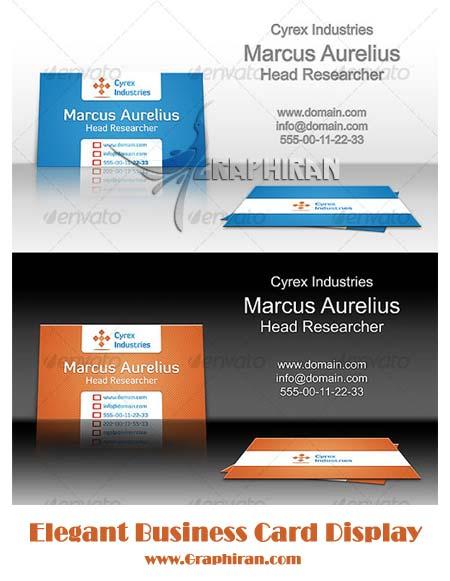 فایل لایه باز نمایش کارت ویزیت