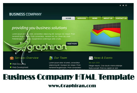 business قالب HTML سایت شرکت تجاری | Business Company HTML Template