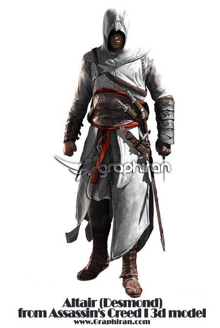 مدل 3 بعدی شخصیت Assassin's Creed I