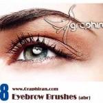 دانلود براش ابرو فتوشاپ   Eyebrow Photoshop Brush