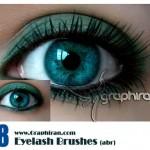 دانلود براش فتوشاپ مژه چشم   Eyeleash Photoshop Brush