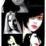 دانلود وکتور طرح زیبای صورت بانوان | Face Of Women Vector