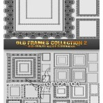 دانلود مجموعه وکتور قاب و حاشیه کلاسیک | Old Frames Vector
