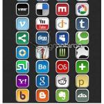 دانلود مجموعه آیکون های شبکه های اجتماعی | Social Media Icon