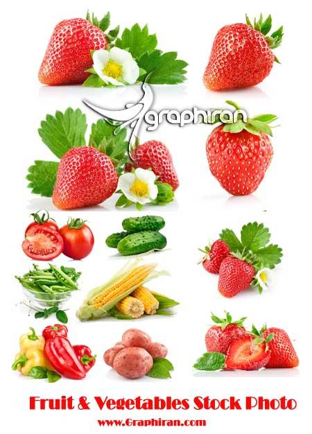 عکس استوک میوه و سبزیجات