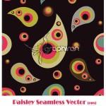 وکتور طرح بته جقه | Paisley Seamless Vector