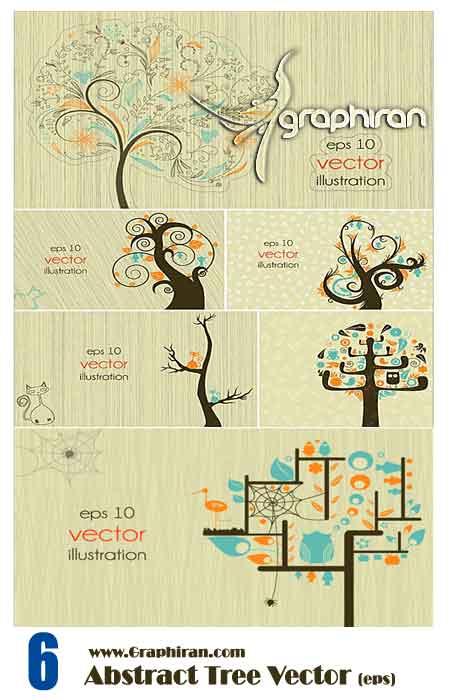 وکتور درخت های فانتزی