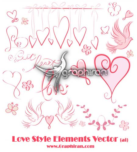 Love-Style-Elements-Vector