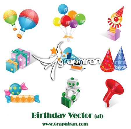 birthdatvector دانلود وکتور تولد کودکان | Birthday Vector