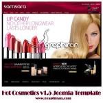 قالب جوملا سایت لوازم آرایشی   Cosmetic Joomla Template