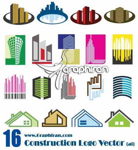 logo2 وکتور لوگوی رنگی با موضوع ساختمان | Construction Vector Logo