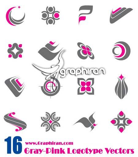 pink gray logo
