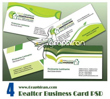 realtor دانلود کارت ویزیت لایه باز مشاور املاک شماره 46
