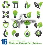 دانلود وکتور لوگوهای آماده سبز رنگ با موضوع محیط زیست