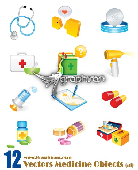 vectors medicine objects وکتور لوازم و ابزار پزشکی | Vectors Medicine Objects
