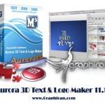 طراحی لوگو و متن ۳ بعدی با Aurora 3D Text & Logo Maker 16.01.07