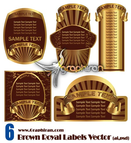 Brown-Royal-Labels-Vector