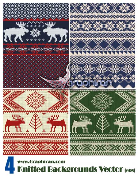 Color-Knitted-Christmas-Backgrounds-Vector