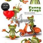 دانلود عکس های قورباغه های بامزه و فانتزی Funny Frogs Photos