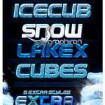 دانلود استایل افکت یخ و برف برای فتوشاپ Ice Cold Styles