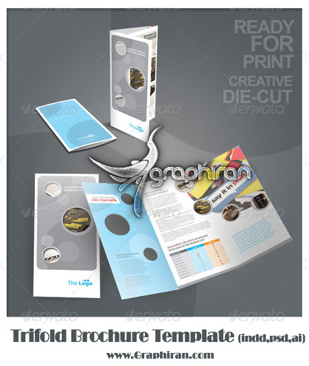 Trifold Brochure دانلود بروشور آماده 3 صفحه ای برای اهداف متفاوت در 3 فرمت مختلف