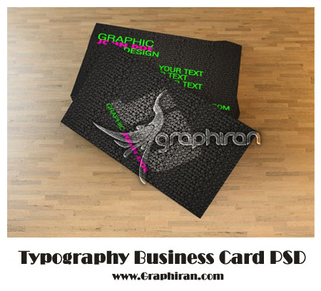 Typography-Business-Card