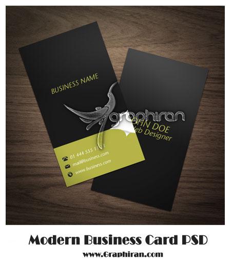 دانلود کارت ویزیت خام و دورو با طراحی مدرن و ساده شماره ۵۲