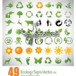 دانلود لوگوهای زیبا با موضوع محیط زیست – Ecology Signs Vector
